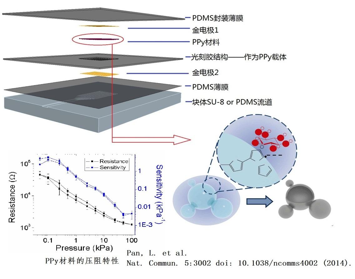 基于微通道的微压强传感器结构图